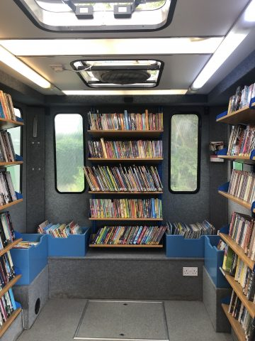 inside the mobile library