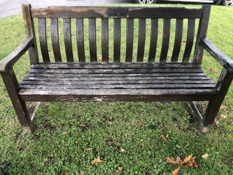 photo of a bench in need of refurbishment