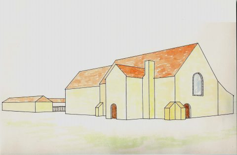 Drawing of an old Manor House
