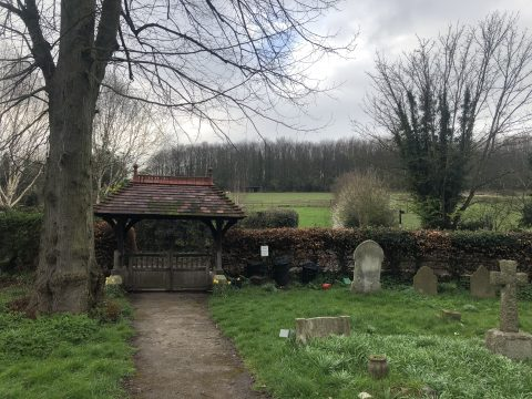 photo showing churchyard and Lych gate