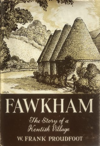 photo of a book cover showing an oast house