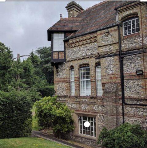 Fawkham Manor view of oriel window